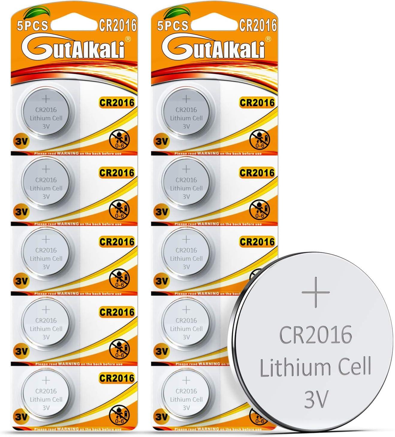Gutalkali 10 Stück Cr2016 3v Batterien Lithium Elektronik