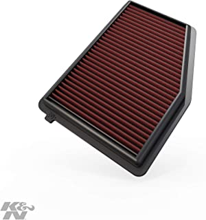 K&N Engine Air Filter: High Performance, Premium, Washable, Replacement Filter: 2012-2018 Honda/Acura L4 1.8/2.0 L (Civic, ILX), 33-2468