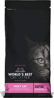 World's Best Cat Litter Picky Cat, Clumping Cat Litter, Flushable with Natural Attractive Scent for All Cats, 10.89 kg