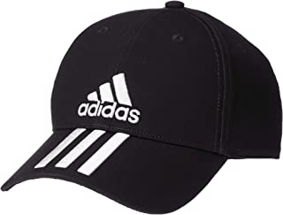 adidas Men's Six-Panel Classic 3-Stripe Cap, Black (Black/White), One Size