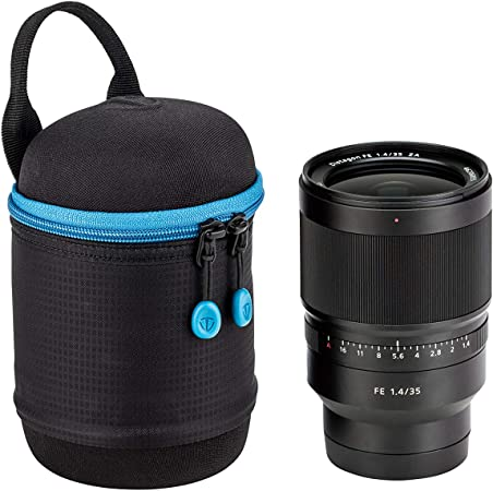 Tenba Tools Lens Capsule 3 5x3 5 In 9x9 Cm Taschenorganizer 13 Cm Schwarz Black Koffer Rucksäcke Taschen