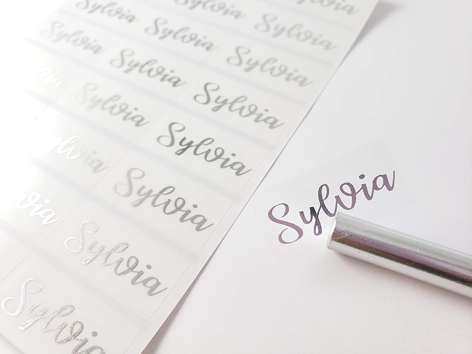 72 Medium SILVER specialty shop INK on Clear -Waterproof Transparent Selling and selling Name Stick