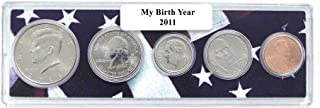2011-5 Coin Birth Year Set in American Flag Holder Uncirculated