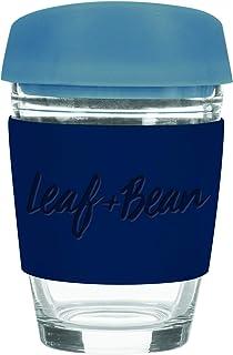 LEAF & BEAN Sorrento Glass Travel Mug, Multi, DLE0049BL
