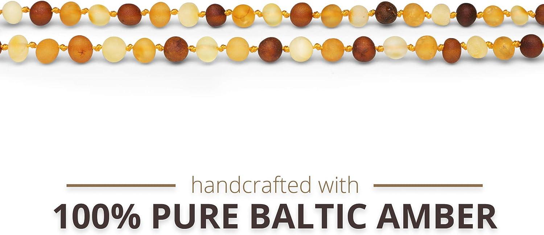 Cognac//Honey//Lemon Color Raw Unpolished Baroque Baltic Amber Necklace Certified Genuine Baltic Amber Necklace Meraki Baltic Amber Necklace 11.5 Inches
