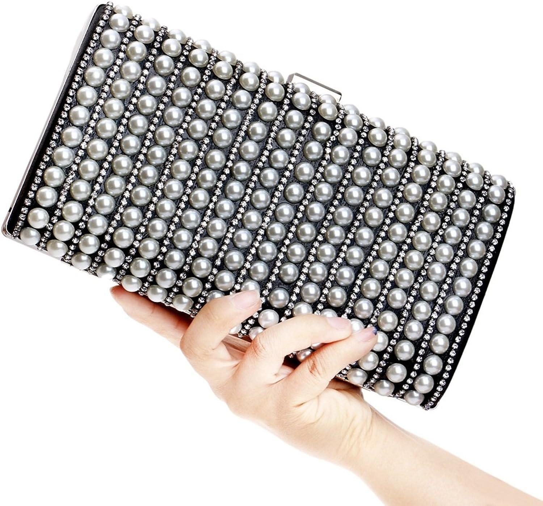 Damen Clutch Geldbörse Pearl Bag Abend Handtasche Umhängetasche B07F6V8XJG    Das hochwertigste Material 82fc87