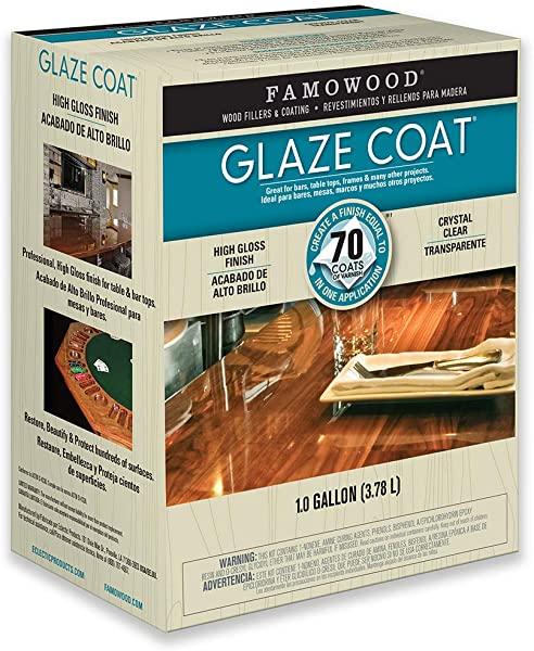 FamoWood 5050110 Glaze Coat Kit Gallon Clear