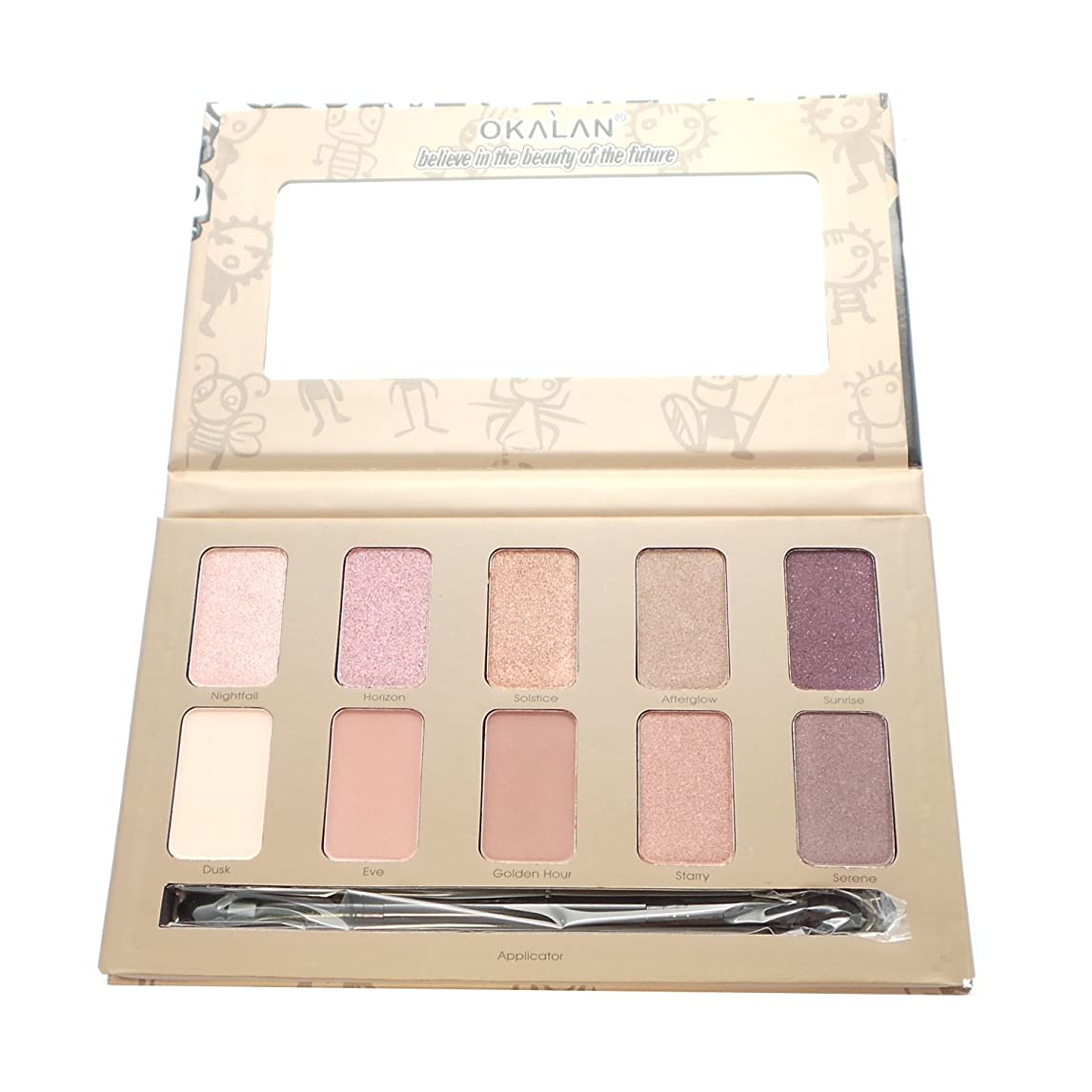 過去常にシーサイド(3 Pack) OKALAN 10 Shade Natural Eyeshadow Palette - B (並行輸入品)