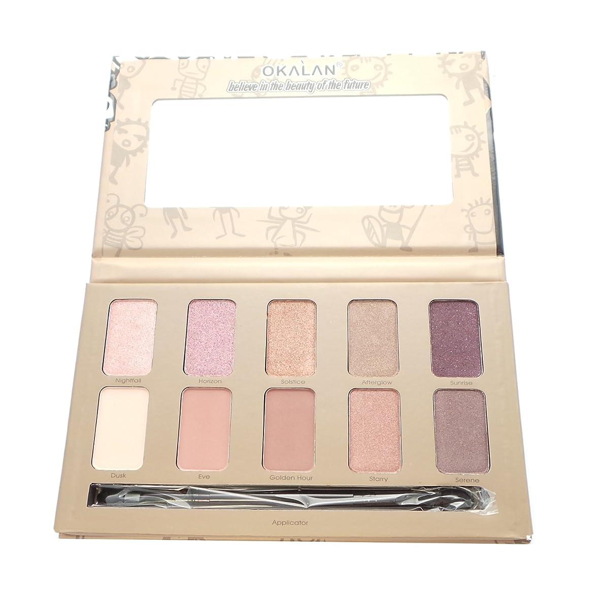 要塞実質的に拘束する(3 Pack) OKALAN 10 Shade Natural Eyeshadow Palette - B (並行輸入品)