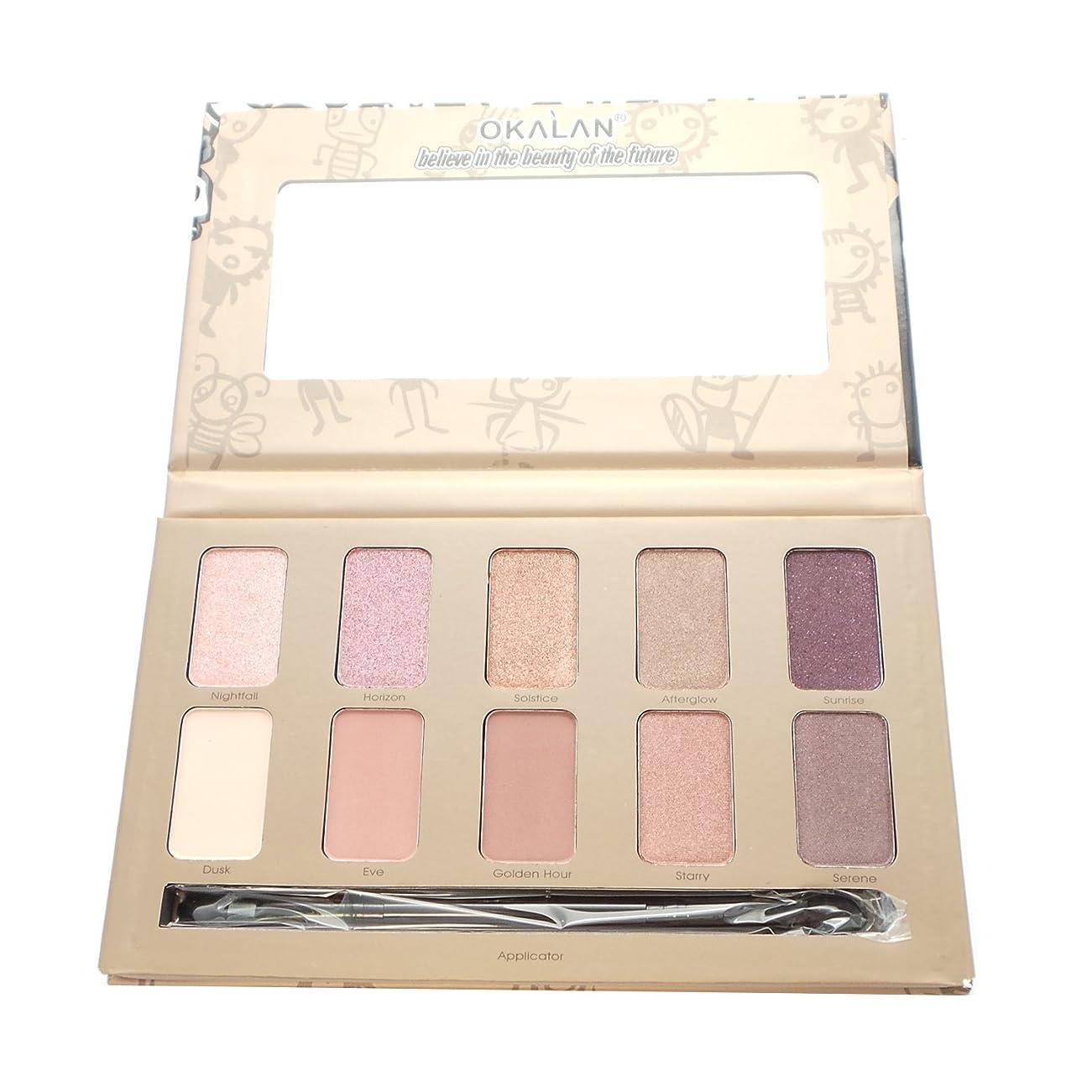 葉を拾う割れ目謝る(3 Pack) OKALAN 10 Shade Natural Eyeshadow Palette - B (並行輸入品)