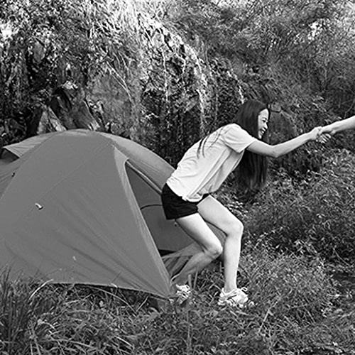 MJY Tente Tente Extérieure Double Tente Imperméable 1-2 Personnes Camping Tente Randonnée Tente,Bleu,200  130  100cm