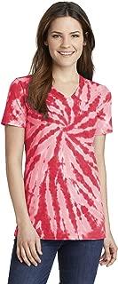 Port & Company Women's Essential Tie-Dye V-Neck Tee LPC147V
