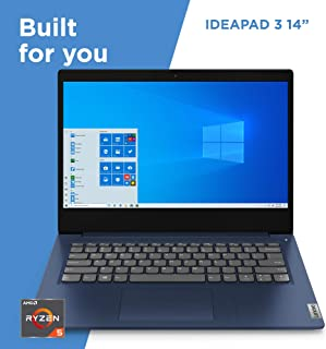 "Lenovo IdeaPad 3 14"" Laptop, 14.0"" FHD (1920 x 1080) Display, AMD Ryzen 5 3500U Processor, 8GB DDR4 RAM, 256GB SSD, AMD Radeon Vega 8 Graphics, Narrow Bezel, Windows 10, 81W0003QUS, Abyss Blue"