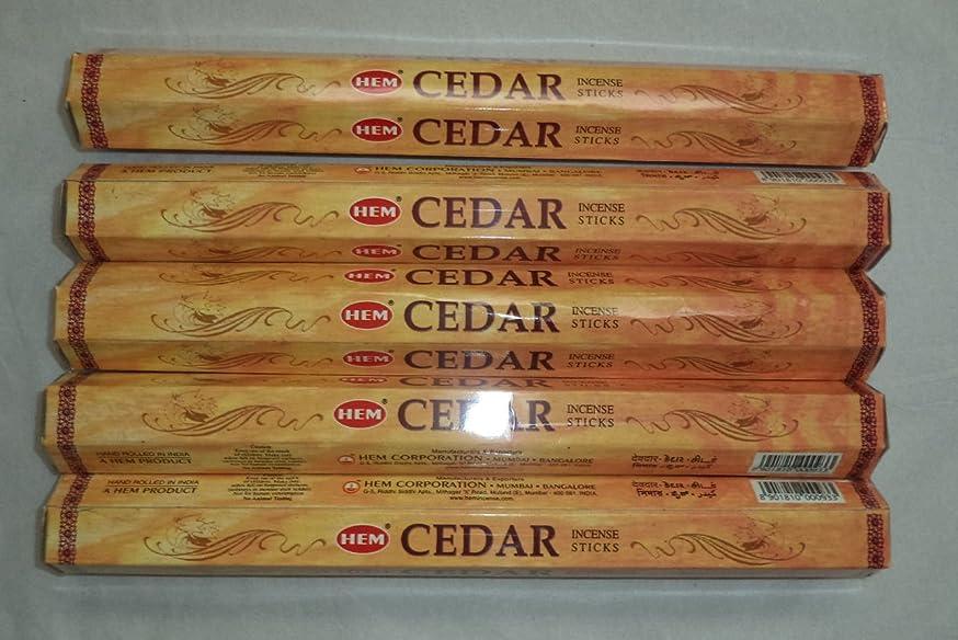 リズミカルなアカデミック天才Hem Cedar 100 Incense Sticks (5 x 20 stick packs) by Hem