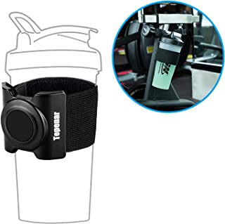 Magnetic Water Cup Holder Perfect for Gym Treadmill Cup Holder Portable Fitness Exercise and Outdoor Exercise Cup Universal Adjustable Water Bottle Belt Removable Wide Mouth Bottles Belt-Black