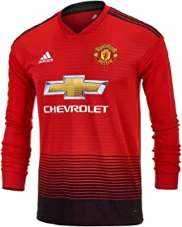 adidas Junior Manchester United Home L/S Jersey – 2018-19 (Real Red/Black)