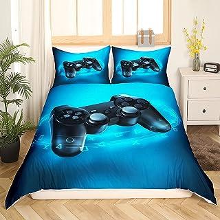 Parure de lit pour garçon - Motif : jeu de consolation - 135 x 200 cm - Housse de couette moderne pour adolescents, jeunes...