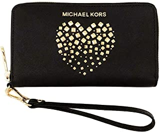 4144f9726832 Michael Kors Large Flat Multifunctional Phone Case Zip Around Leather Wallet