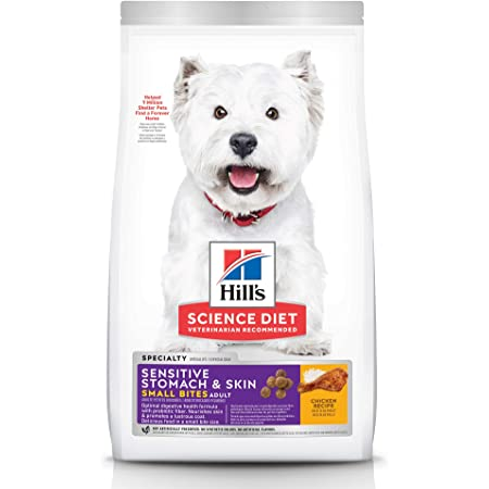 Hill's Science Diet Dry Dog Food, Adult, Sensitive Stomach and Skin, Small Bites, Chicken Recipe