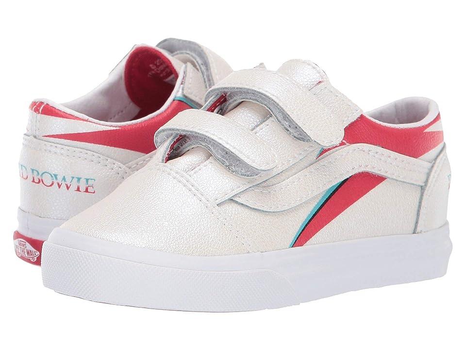 Vans Kids Vans x David Bowie Sneaker Collab (Infant/Toddler) ((Old Skool V) Aladdin Sane/True White) Kids Shoes