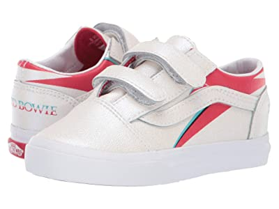 Vans Kids Vans x David Bowie Sneaker Collab (Infant/Toddler) ((Old Skool V) Aladdin Sane/True White) Kids Shoes