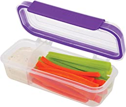 SnapLock by Progressive Snack Box Container - Purple, SNL-1020P  Easy-To-Open, Leak-Proof Silicone Seal, Snap-Off Lid, Stackable, BPA FREE