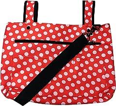 Snapster Snap On Tote Bag for Walker, Stroller Or Shopping Cart (Red/White Dot)