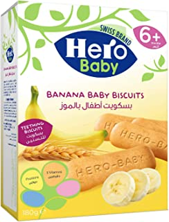 HERO BABY Banana Biscuits, 180 gm