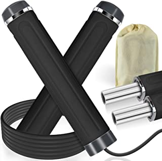 Jump Rope, Weighted Handle Workout Jumping Rope for Fitness Exercise Boxing, Skipping Rope for Adults, Men, Women, Kids, G...