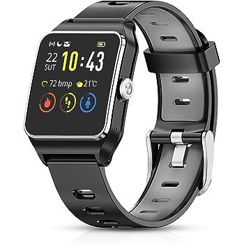HolyHigh GPS Montre Connectée Montre Sport Podomètre Bluetooth Smartwatch IP68 Etache détection de la fréquence Cardiaque Montre Intelligente Homme