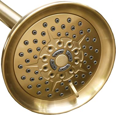 ShowerMaxx, Luxury Spa Series, 6 Spray Settings 5 inch Adjustable High Pressure Shower Head, MAXX-imize Your Shower with Show