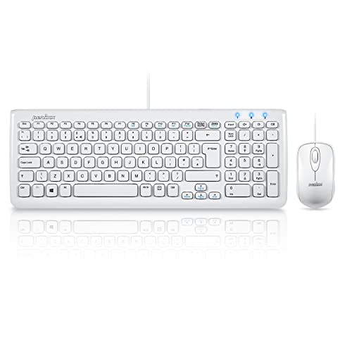 ef7095d5b42 Perixx PERIDUO-303 Wired Keyboard and Mouse Set - 389x142x25mm - Chiclet  Key Design -