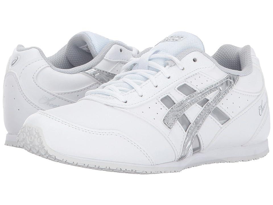 ASICS Kids Cheer 8 GS (Toddler/Little Kid) (White/Silver/Interchange) Girls Shoes
