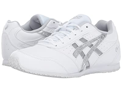 ASICS Kids Cheer 8 GS (Toddler/Little Kid) (White/Silver/Interchange) Girls Shoes