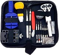 Nishore 144 pçs/set relógio kit de ferramentas de reparo caso abridor removedor chave de fenda pulseira relógio relógio de...