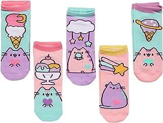 The Cat Ankle Socks - Pusheen Ice Cream Polka Dot Designs - 5 Pairs