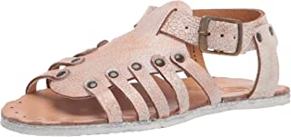 Sbicca Women's Gladiator Flat Sandal, White, 7