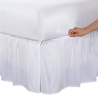Bed Maker's Never Lift Your Mattress Microfiber Wrap-Around Bed Skirt, Gathered Ruffled Style, Classic 14 Inch Drop Lengt...