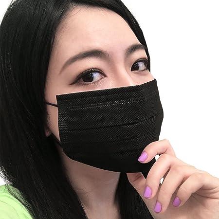 黒マスク 4層不織布マスク PM2.5対応 PFE99%以上 活性炭フィルター ブラックマスク 個別包装 男女兼用 5枚入x6セット【30枚入】