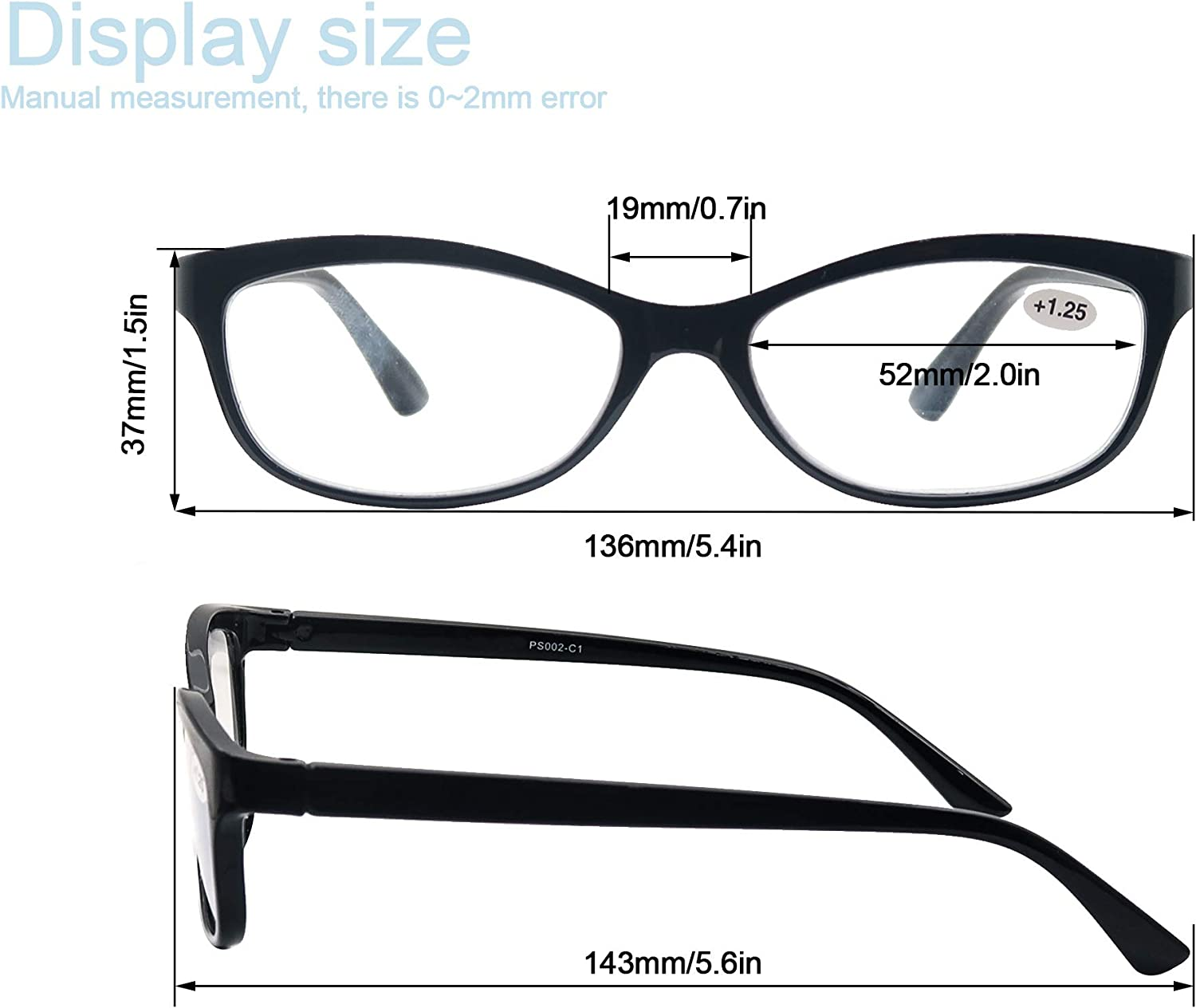 Reading Glasses 20 pack Womens Stylish Oval readers Glasses Ladies'  Lightweight Glasses for Reading