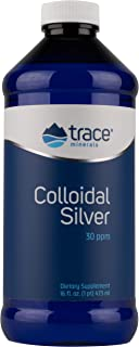 Trace Minerals Research Vegan Colloidal Silver Spray, Bio-Active Silver Hydrosol Liquid Mineral Supplement, Certified Organic, Natural & Pure, 30 PPM, 16 fl. oz, - CLS02