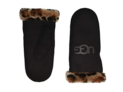 UGG Water Resistant Sheepskin Mitten (Leopard) Extreme Cold Weather Gloves