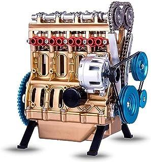 Kit de modèle de moteur automobile pour adultes de 4 cylindres, kit de moteur modèle de 4 cylindres, kit de moteur de bure...