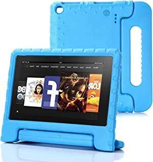 Feitenn Fire HD 8 ケース 2018 2017発売通用 EVA材料 ハード 子供用 衝撃吸収 軽量 傷つけ防止 スタンド ケース キッズ用 おしゃれ 人気 かわいい Newモデル カバー (Kindle Fire HD 8, ブルー)