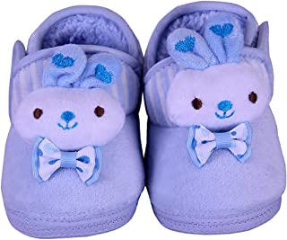 The First Baby Unisex Boys & Girls Imported Soft Suede Winter Booties Shoes