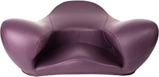 Alexia Meditation Seat Ergonomically Correct for The Human Physiology Zen Yoga Chair (Purple, Genuine Leather)