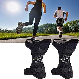 GBHJJ knästöd gångjärn, knäbooster ledstöd dyna vår knärem rem för män/kvinnor svaga ben, artrit, menisk tår smärta, fitne...