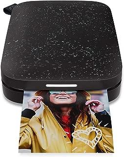 HP Sprocket 200 - Impresora fotográfica portátil (tecnología de impresión Zink, Bluetooth, Fotos 5 x 7.6 cm), Negro