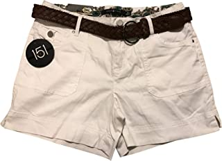 ONE 5 ONE Women's Braided Belted Short Color: White, Assorted Sizes New