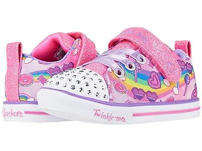 SKECHERS KIDS Twinkle Toes Sparkle Lite Rainbow Skies 314756N (Toddler) (Pink/Multi) Girl